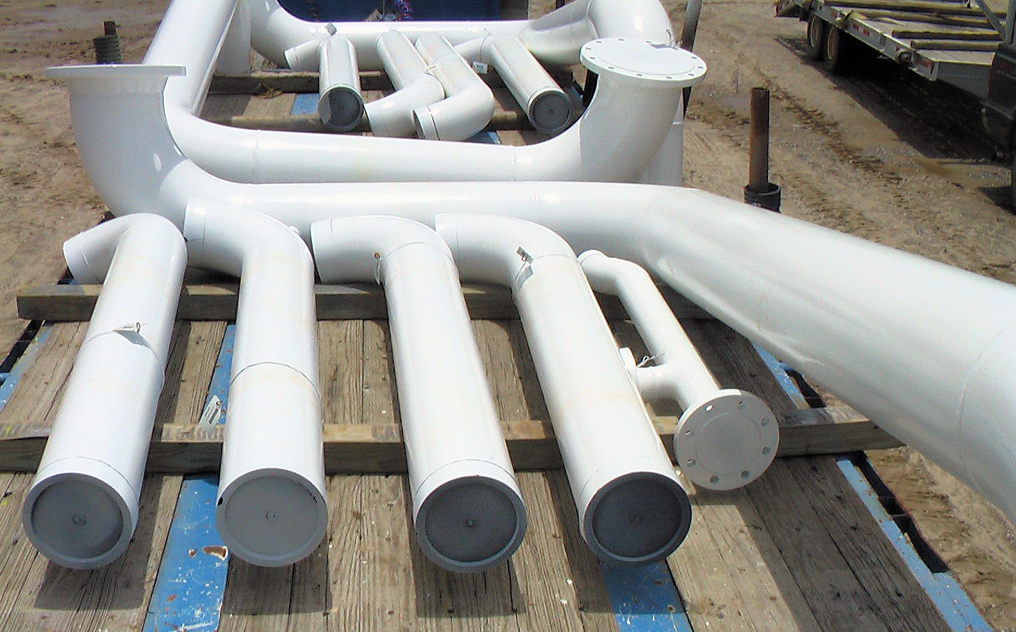 Industrial coated piping